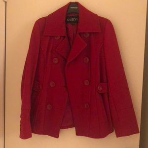 Guess red coat Size S